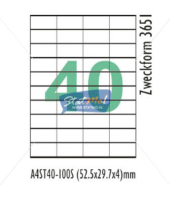 Desmat SA White A4 40 Labels-Data 52.5 X 29.7 x 4 by StatMo.in