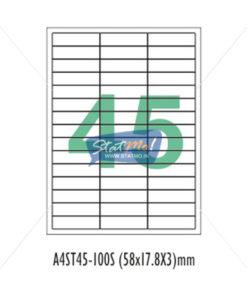 Desmat SA White A4û 45 Labels-Data 58x 17.8x 3 by StatMo.in