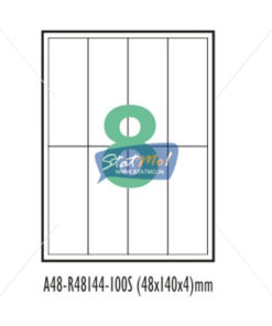 Desmat SA White A4 8 Labels-Data 48 x 140 x 4 by StatMo.in