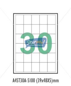 Desmat SA White A4û 30 Labels-Data 39x 48x 5 by StatMo.in