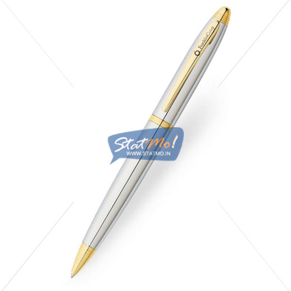 Franklin Covey Lexington Chrome Gold Tone Ballpoint Pen by StatMo.in