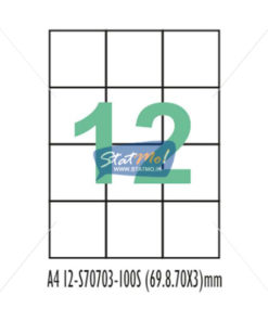 Desmat SA White A4 12 Labels-Data 69.85 x 70 x 3 by StatMo.in