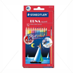 Staedtler Luna Classic Water Soluble Color Pencils Set of 12 by StatMo.in