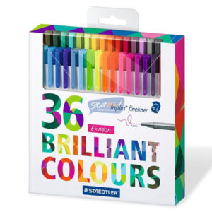 Staedtler Triplus Fine Liner 36 Brilliant Colours by StatMo.in