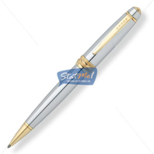 Cross Bailey Medalist Chrome with 23 Karat Gold Ballpoint Pen by StatMo.in