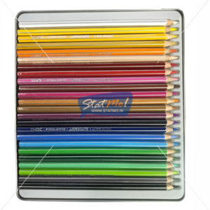 Doms Supersoft Colour Pencil 24 Shades Flat Tin Pack by StatMo.in