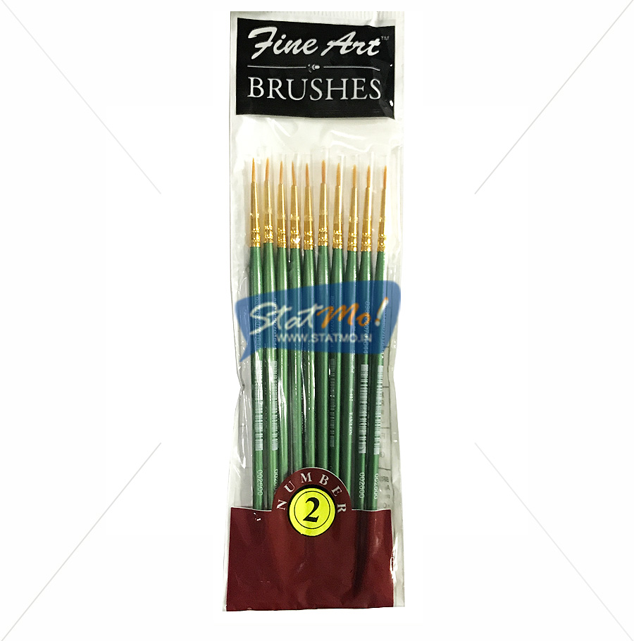 Pidilite Fine Art Brushes Pointed Round No-2 by StatMo.in