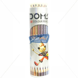 Doms Supersoft Colour Pencil 24 Shades Round Tin Pack by StatMo.in
