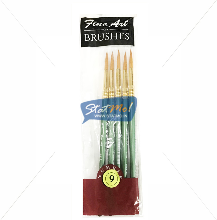 Pidilite Fine Art Brushes Pointed Round No-9 by StatMo.in