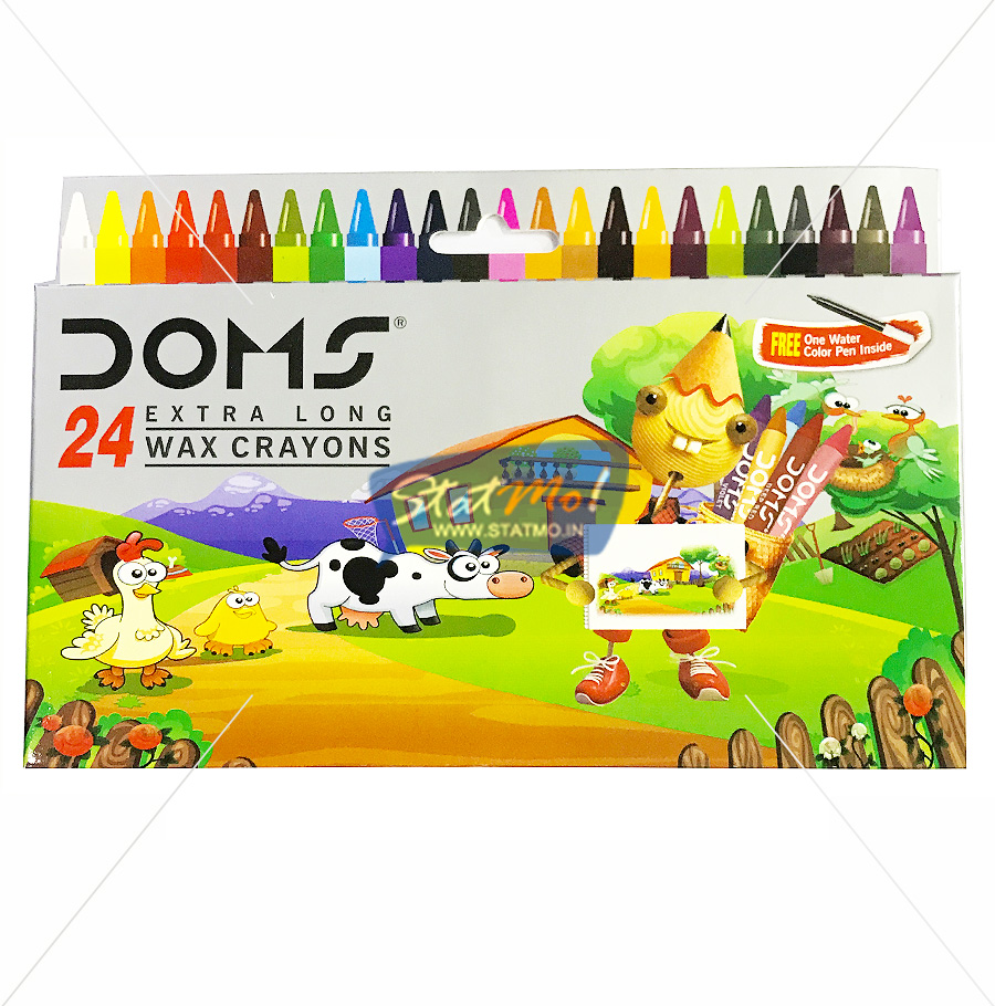 Doms Extra Long Wax Crayons 24 Shades by StatMo.in