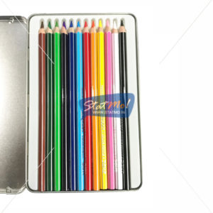 Doms Supersoft Colour Pencil 12 Shades Flat Tin Pack by StatMo.in