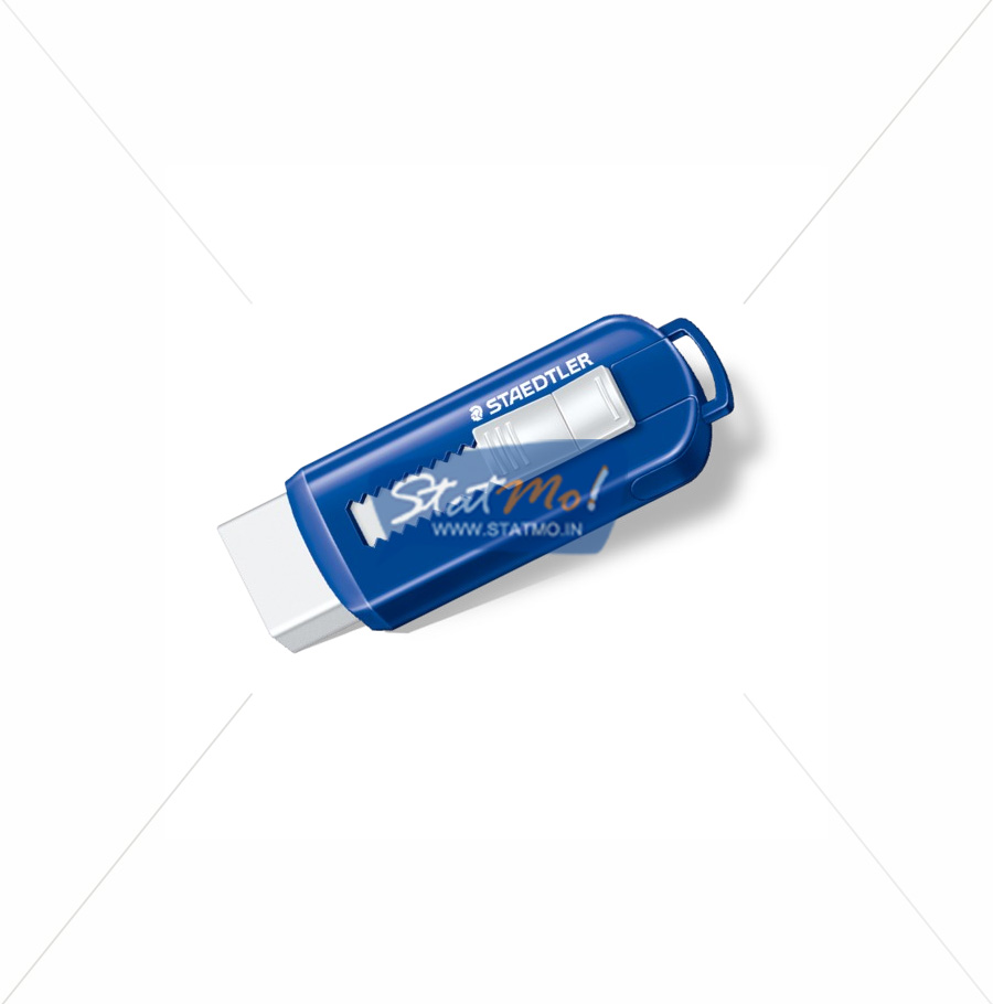 Staedtler PVC And Latex free Sliding Plastic Sleeves Eraser by StatMo.in