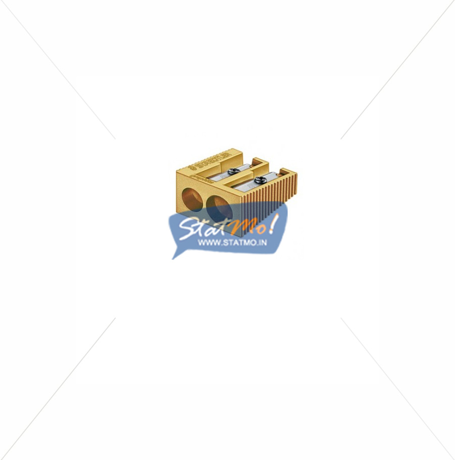Staedtler Heavy Metal Double Hole Sharpener Gold Colour by StatMo.in