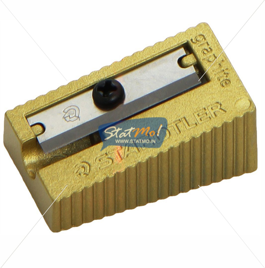 Staedtler Heavy Metal Single Hole Sharpener Gold Colour by StatMo.in
