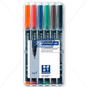 Staedtler Lumocolor Fine Permanent Marker Pen Set of 6 by StatMo.in