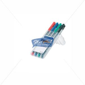 Staedtler Lumocolor Medium Permanent Marker Pen Set of 4 by StatMo.in
