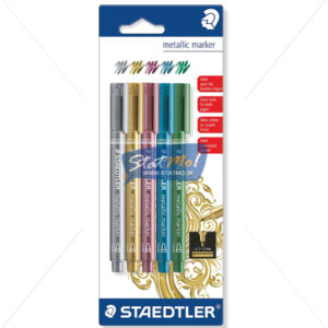 Staedtler Metallic Marker Set of 5 by StatMo.in