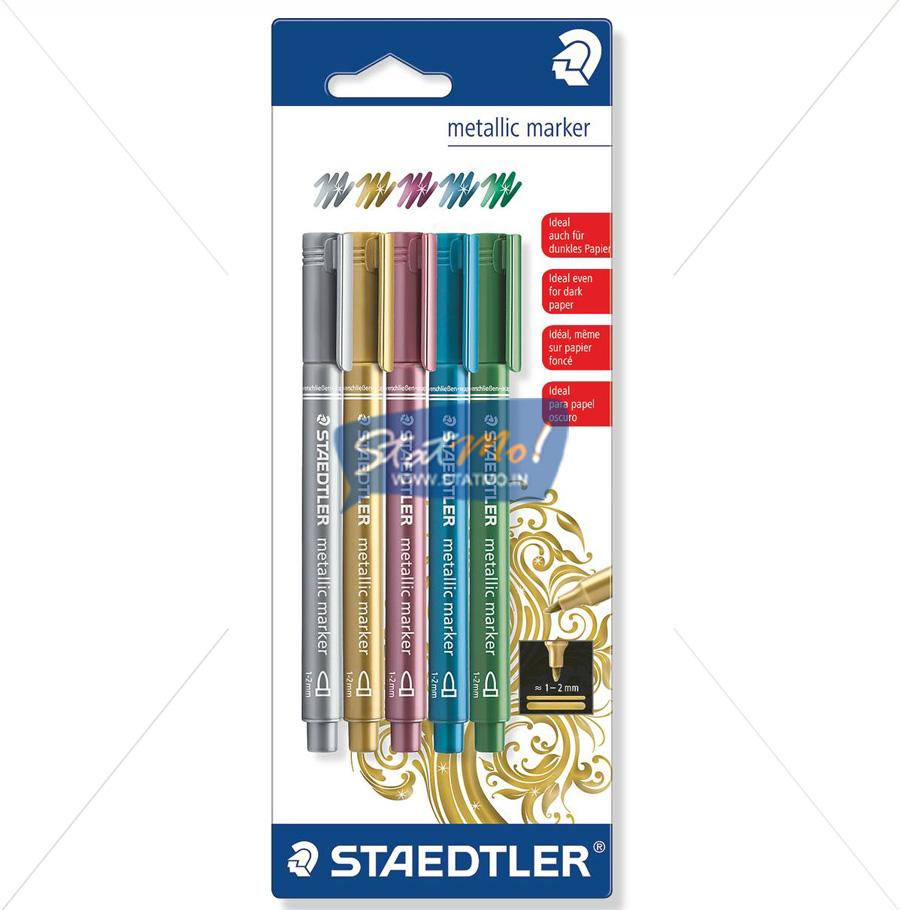 Staedtler Metallic Marker Set of 5 by StatMo.in