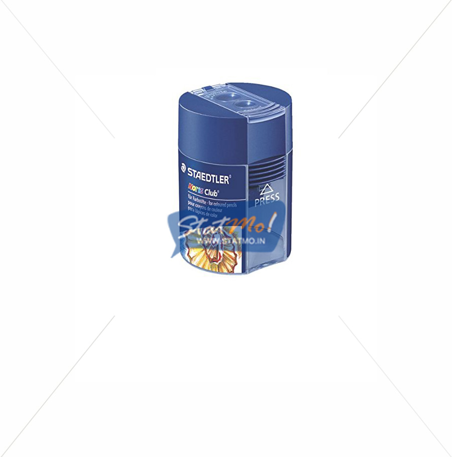 Staedtler Noris Club Round Tub Sharpener Double Hole by StatMo.in
