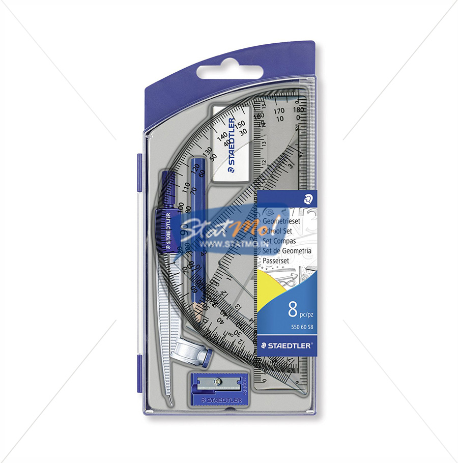 Staedtler Noris Club School Compass 8 Essential Tools by StatMo.in
