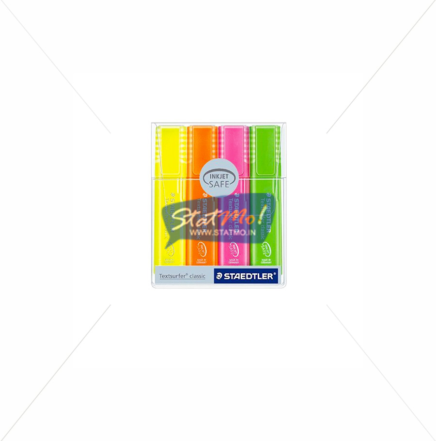 Staedtler Rainbow Textsurfer Highlighter Set of 4 by StatMo.in
