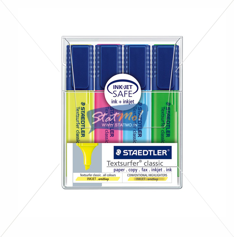 Staedtler Textsurfer Classic Highlighter Set of 4 by StatMo.in