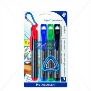 Staedtler Triplus Thick Permanent Marker Set of 4 by StatMo.in
