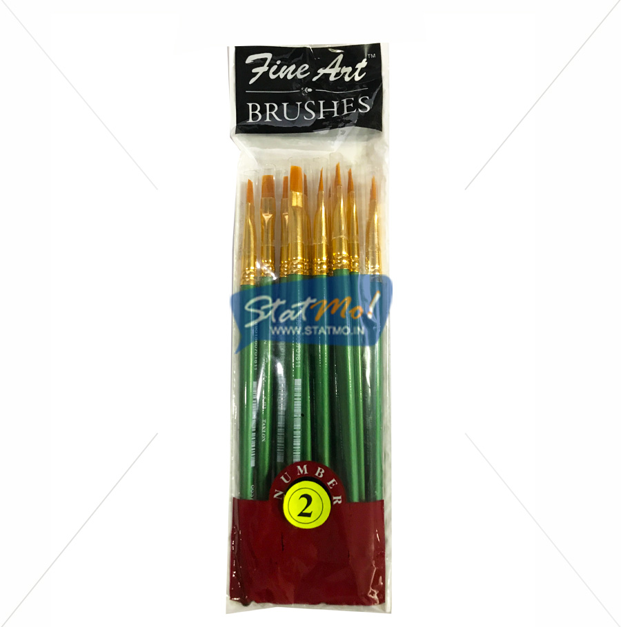 Pidilite Fine Art Flat Brushes No 2 by StatMo.in