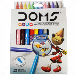 Doms Aqua Water Colour Pens 12 Shade by StatMo.in