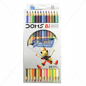 Doms Bi Colour Pencil 24 Shades by StatMo.in