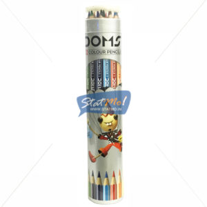Doms Supersoft Colour Pencil 12 Shades Round Tin Pack by StatMo.in