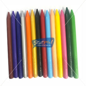 Doms Plastic Crayons 12 Shades Tin Pack by StatMo.in