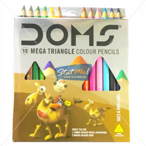 Doms Mega Triangle Colour Pencils 12 Shades by StatMo.in