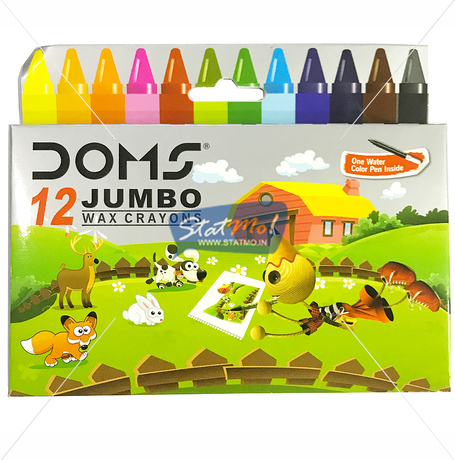 Doms Jumbo Wax Crayons 12 Shades by StatMo.in