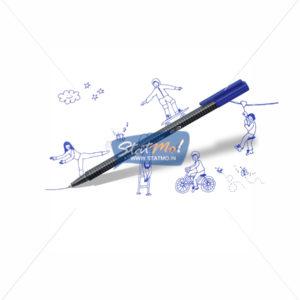 Staedtler Triplus Roller Pen Set of 10 by StatMo.in