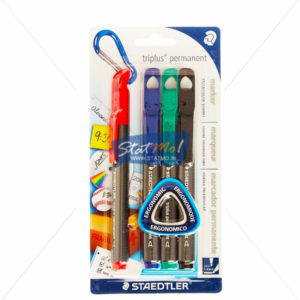 Staedtler Triplus Thin Permanent Marker Set of 4 by StatMo.in