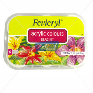 Pidilite Fevicryl Acrylic Colours Lilac Kit 6 Shades by StatMo.in