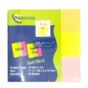 Aerotix Sticky Note Pad Three Neon Color by StatMo.in