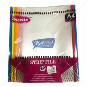 Aerotix Strip File Clear Transparent A4 StatMo.in