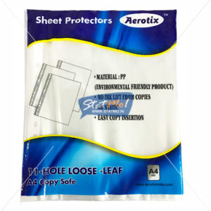 Aerotix Sheet Protectors A4 Size SP100 by StatMo.in