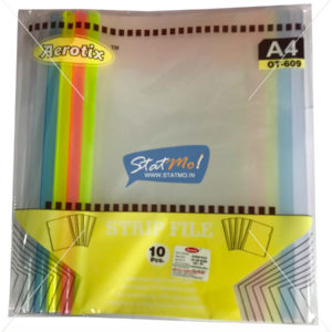 Aerotix Strip File Clear Natural Transparent A4 by StatMo.in