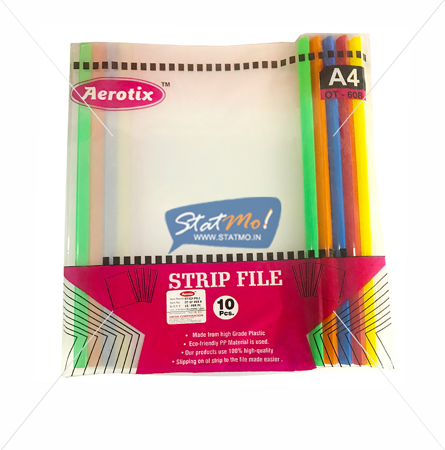 Aerotix Strip File Natural Clear Transparent A4 by StatMo.in