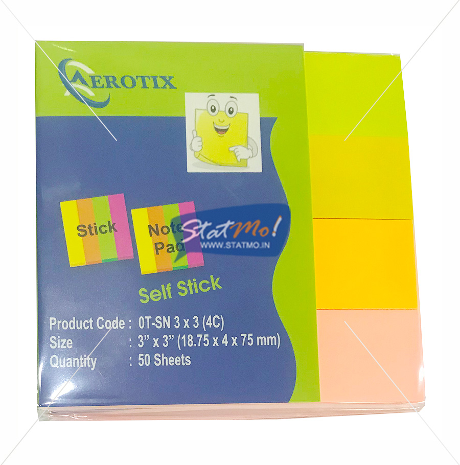 Aerotix Stick Note Pad Four Color by StatMo.in