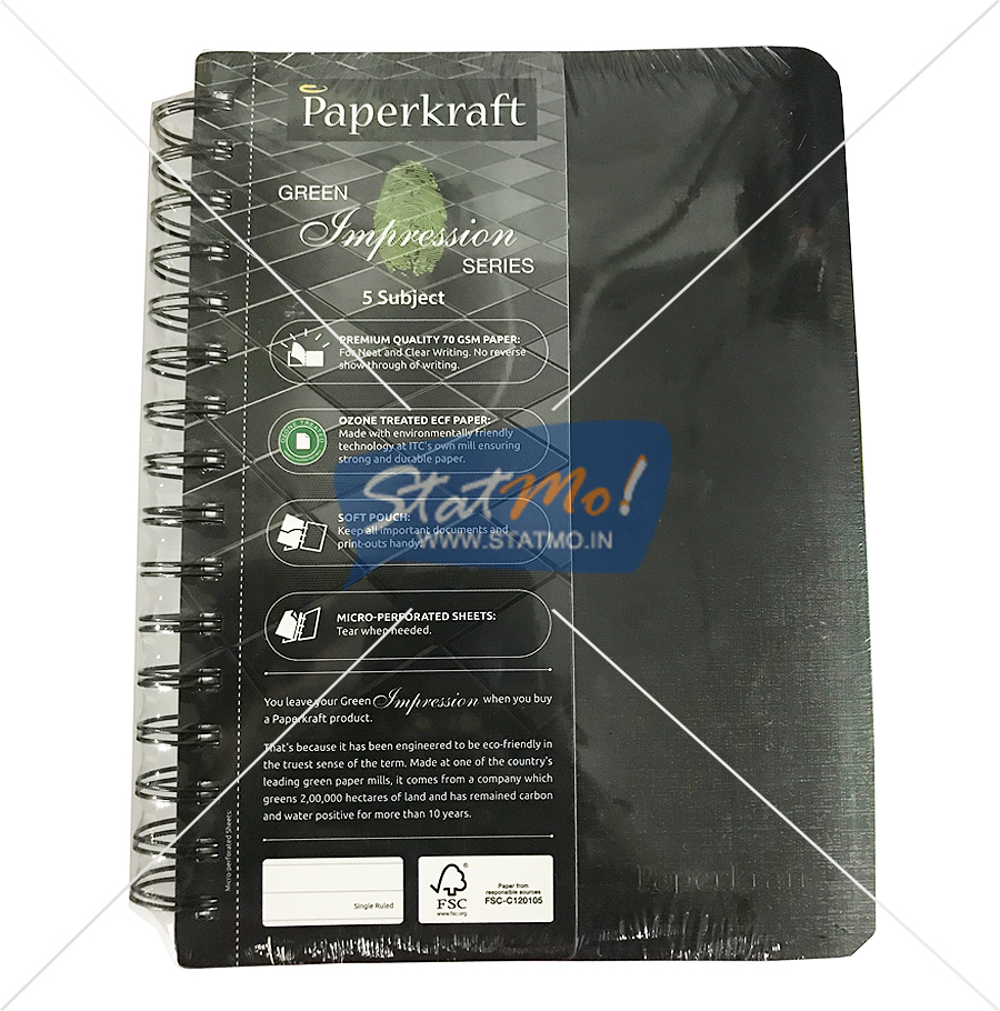 Classmate Paperkraft Green Impression Notebook 300 Pages by StatMo.in