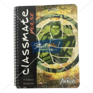 Classmate Pulse 6 Sub Spiral Notebook 300 Pages Single Line by StatMo.in