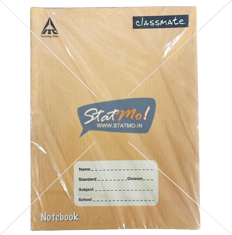 Classmate Notebook Four Line Pages 120 by StatMo.in