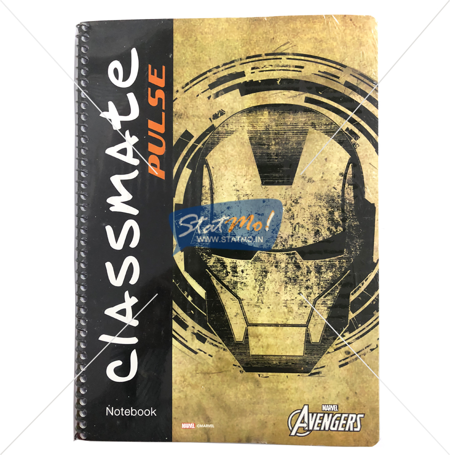 Classmate Pulse Spiral Notebook 180 Pages Unruled by StatMo.in