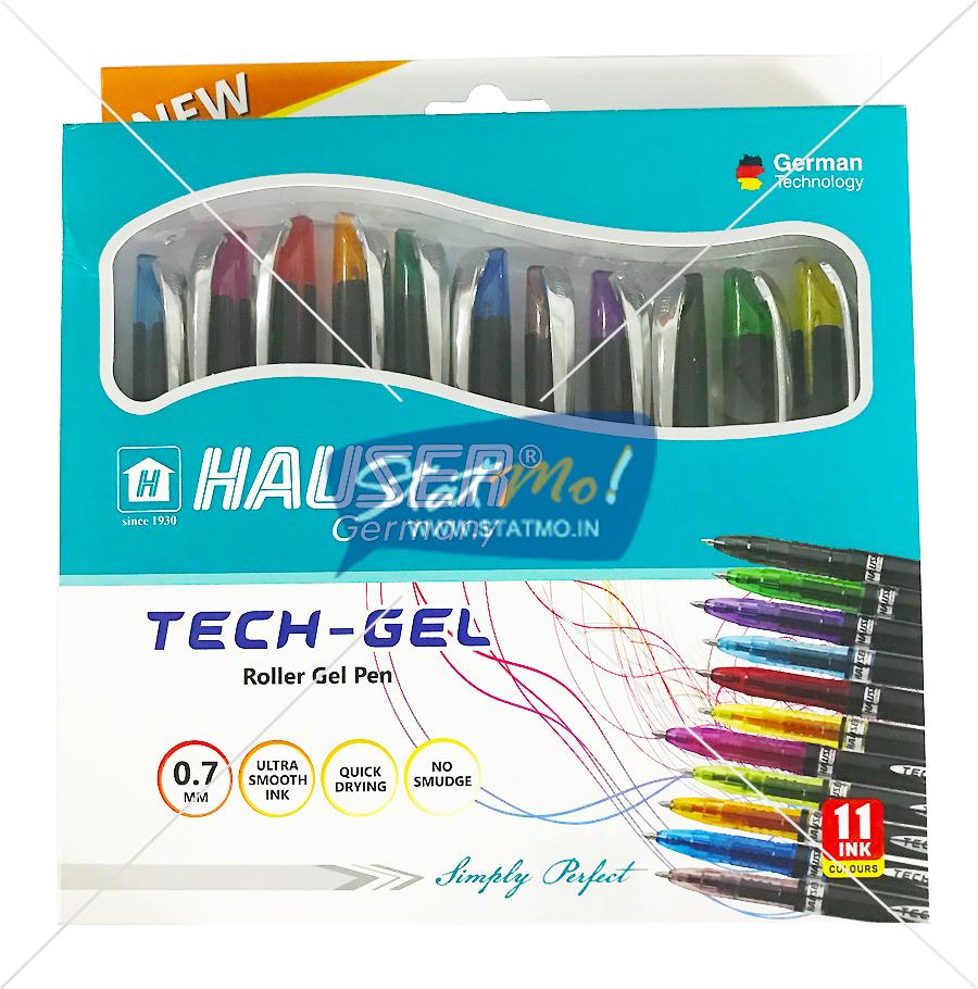 Hauser Tech-Gel Roller Gel Pen Set by StatMo.in