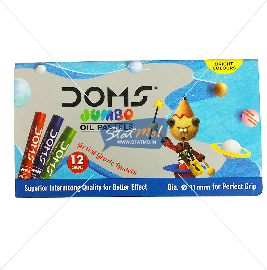Doms Jumbo Oil Pastel 12 Shades by StatMo.in