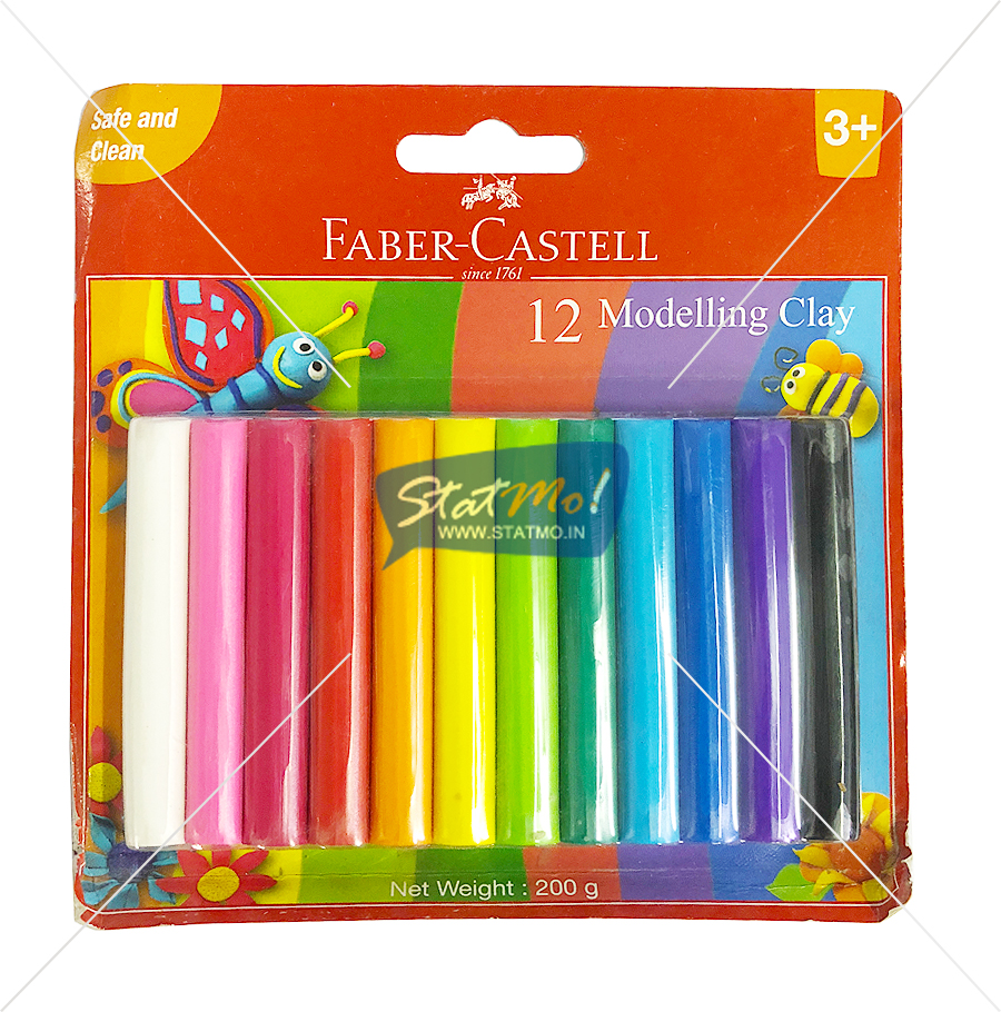 Faber Castell Dough 12 Shades by StatMo.in
